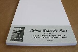 A4 SMOOTH WHITE PREMIUM QUALITY PAPER OR CARD 160gsm 200gsm 250gsm 300gsm 350gsm