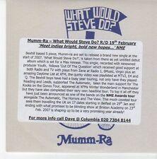 (EB343) Mumm-Ra, What Would Steve Do? - 2007 DJ CD