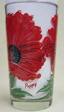 Poppy  Peanut Butter Glass Glasses Drinking Kitchen Mauzy 87-4