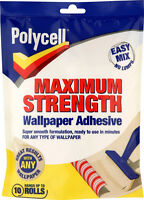 Polycell Maximum Strength Powder Wallpaper Paste Adhesive - Hangs up to 10 Rolls