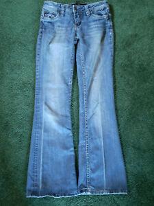 Girl's Youth Refuge Blue Jeans - Size 1 Regular - Hip Huggers, Boot Cut