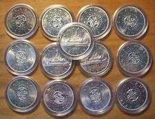 13 AU/BU Canadian Silver Dollars - 1964 & 1965 - 80% Silver