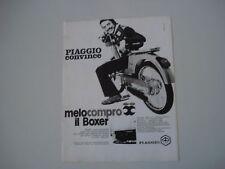 advertising Pubblicità 1971 PIAGGIO BOXER