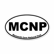 """Mammouth Cave National Park oval car window bumper sticker decal 5"""" x 3"""""""