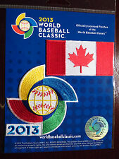 Official World Baseball Classic Patch With Flag of Canada Patch Authentic 2013
