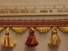 "Tassel Trim Dark Shades Maroon / Red & Gold Minnesota Gophers Colors 410"" Long"