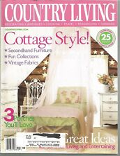 Country Living Magazine - August 2003 - Cottage Style, Secondhand Furniture