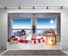 Vinyl Photo Backdrop Winter Sunshine Snowman Photography Background Studio Props