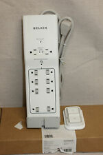 Belkin 8 Outlet Surge Protector 4 Ft Cord Power Strip Conserve Switch w/ Remote
