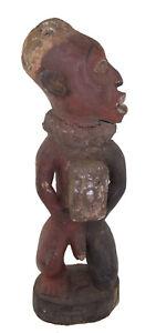 Ancienne Statue Kongo africaine 45cm Reliquaire RDC Art coutumier Africain 17233