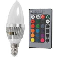3W RGB LED Light E14 Bulb Candle Light 16 Colors Lamp with Remote Control E9L6