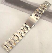 bracciale acciaio con chiusura a bottoncini stile omega ansa 20 mm semimassiccio