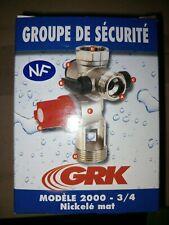 """GRK 2000 : GROUPE DE SÉCURITÉ modèle 2000 3/4"""" nickelé Mat"""