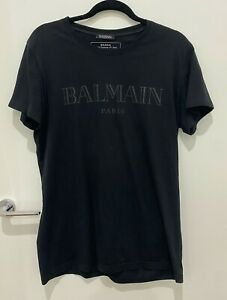 Mens Balmain Logo Black T-Shirt