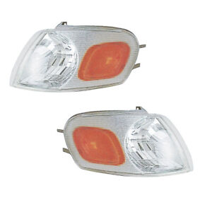 Signal Side Marker Lights Pair Set for 97-05 Chevy Venture/97-04 Silhouette