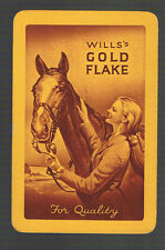 Playing Swap Cards 1 VINT  WILL'S  GOLD FLAKE  CIGARETTES  ADVT C62  HORSE