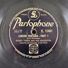 """12"""" 78rpm SIDNEY TORCH london fantasia E 11451"""