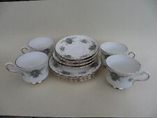"""Royal Stafford Bone China """"True Love"""" Cup, Saucer & Side Plate, Set of 4."""