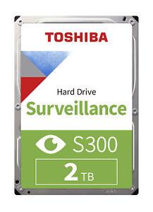 "Toshiba HDWT720UZSVA 2TB S300 3.5"" Surveillance Hard Drive"
