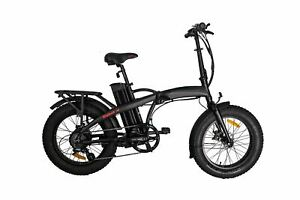 GlareWheel Rebel EB-RE Black Foldable Electric Bike - Up to 28MPH | MaxStrata