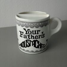 Your Fathers Mustache Mug Beer Cup Stein Old Time Design White with Black