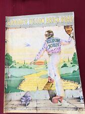 "1974 Elton John ""GOODBYE YELLOW BRICK ROAD"" Songbook/Music"