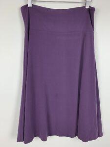 LuLaRoe Azure Skirt Size Large Solid Plum Purple Stretch Elastic Waist Pull On L