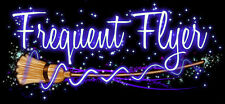 Frequent Flyer Broom Bumper Sticker Car Vinyl Decal Witch Wicca Free Shipping