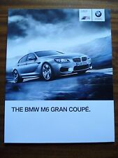 BMW M6 GRAN COUPE SALES BROCHURE LATE 2012 FOR 2013 MODEL YEAR