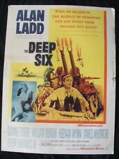 DEEP SIX movie poster ALAN LADD DIANNE FOSTER giant 30x40 1958