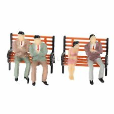 Pose Assorted Model Benches Park Bench Scenery Garden Seats Scale 1:75 10pcs Set