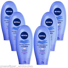 ( 29,93€/ L) 6x 100ml NIVEA softcare CREMA DE MANOS SOFT CARE Shea Butter Tubo