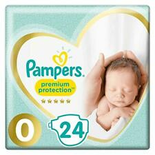 2 X Pampers Premium Protect Micro Size 0 Newborn Nappies 24s