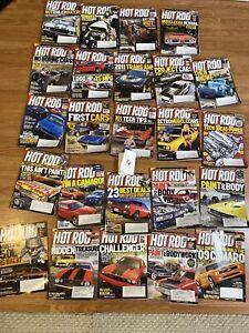 Hot Rod Magazine Lot QTY 24 2008 2009 2010