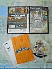 Grand Theft Auto: San Andreas (Sony PlayStation 2, 2005) + Poster & Manual RARE