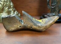 Early 20th Cent. French Cobbler's Wood Shoe with Painted Rooster Motif Folk Art