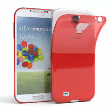 Ultra Slim Cover für Galaxy S4 Case Silikon Hülle Transparent Rot