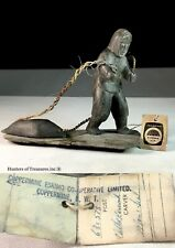 Old Vtg Inuit Indian Carving Stone Hunter Eskimo Natives by Nellie Kanovak
