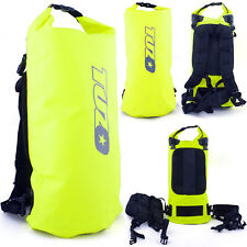 40L Roll Top Waterproof Backpack Rucksack Dry Bag Sack Flo Yellow 40 Litre