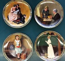 """4 Vintage Knowles 8-1/2"""" Plates From Norman Rockwell's American Dream"""