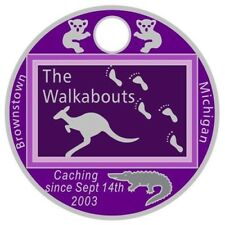 The Walkabouts 2017 Pathtag #42577 GEOCACHING Pathtags Bear Geocoin USA Tag