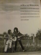Queen, Brian May, Ovation Guitar, Full Page Vintage Promotional Ad