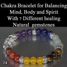 Chakra Gemstone Bracelet With 7 Different Natural Gemstones for  Healing