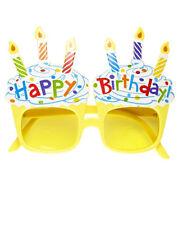 Gafas de fiesta feliz cumpleaños velas celebraciones eventos happy birthday