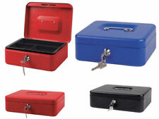 Strong Metal Security Cash Money Deposit Box  Bank Coin Tray With Key Or Code