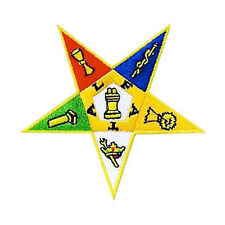 Order of the Eastern Star Masonic Patch coloful OES star symbol