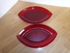 Tupperware Sheerly Elegant  Acrylic Teardrop Serving Bowls New