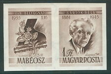 HUNGARY #C169a, Bela Bartok 1955 Stamp Day with Ticket se-tenant, og, LH, VF