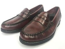 Rockport Men's Dark Brown Brazil Leather Penny Loafers Vibram Bottoms Size 8