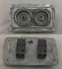 NEW Vintage Industrial Cast Metal Faceplate (for Wall Boxes) - BS EN Approved